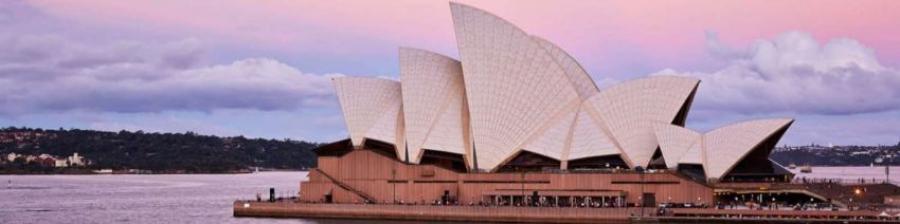 Operaen i  Sidney tegnet af den danske arkitekt Jørn Utzon